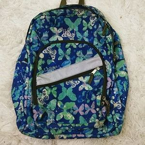 L.L. Bean Butterfly Print Backpack